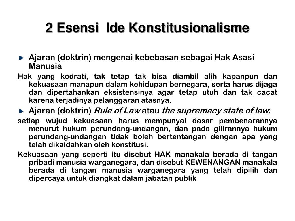 2 Esensi  Ide Konstitusionalisme