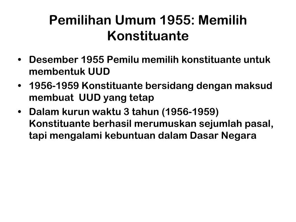 Pemilihan Umum 1955: Memilih  Konstituante