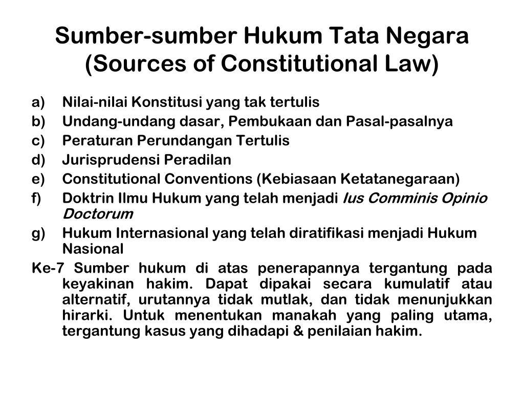 Sumber-sumber Hukum Tata Negara