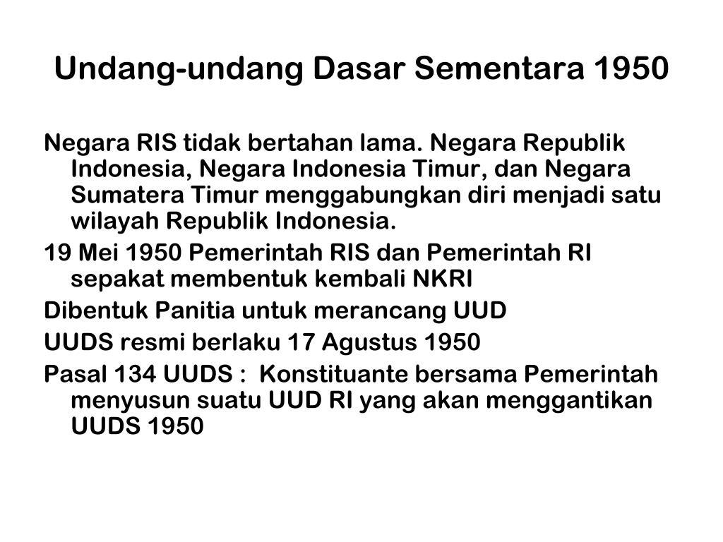 Undang-undang Dasar Sementara 1950