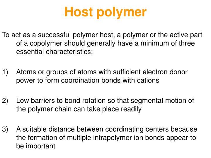 Host polymer