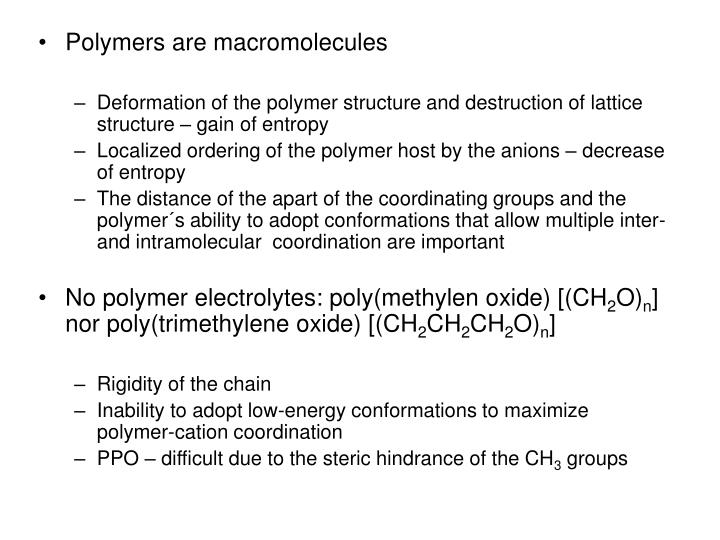 Polymers are macromolecules