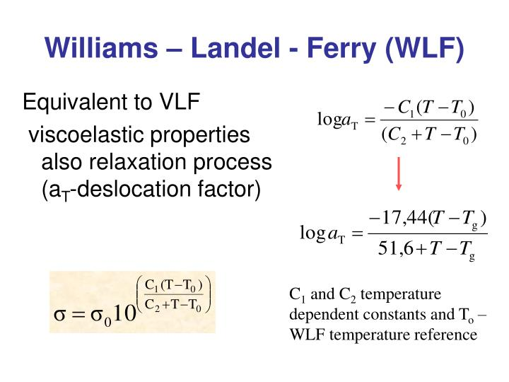 Williams – Landel - Ferry (WLF)