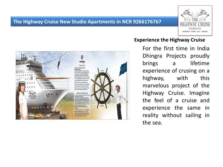 The highway cruise new studio apartments in ncr 92661767672