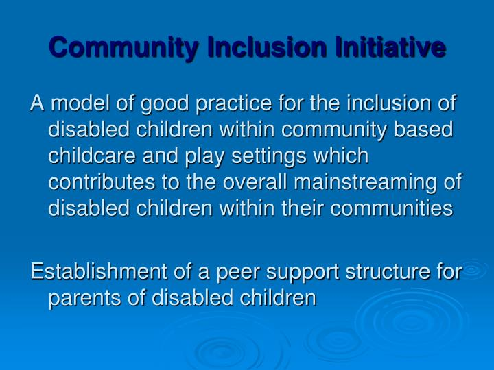 Community Inclusion Initiative