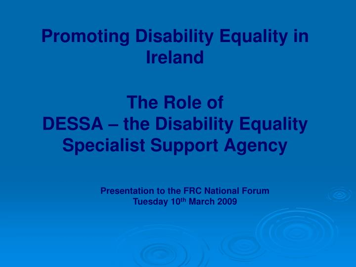 Promoting Disability Equality in Ireland