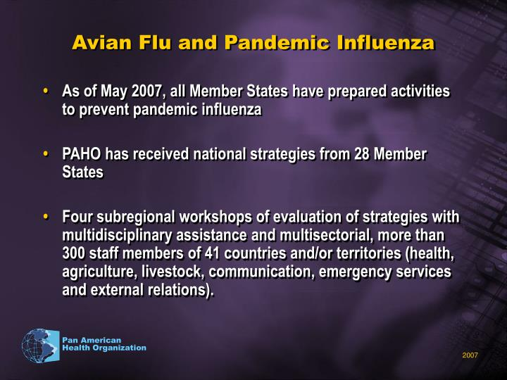 Avian Flu and Pandemic Influenza