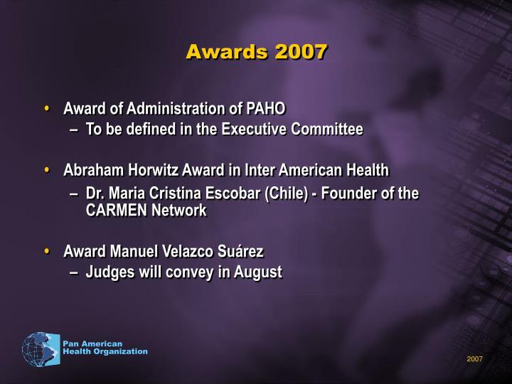 Awards 2007