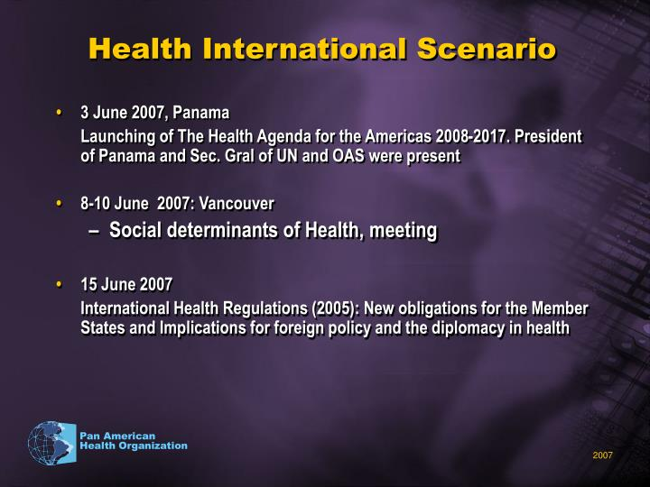Health International Scenario