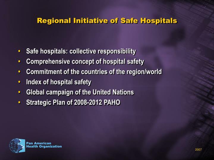 Regional Initiative of Safe Hospitals