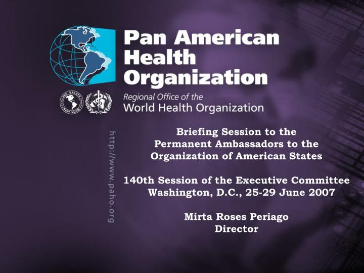 Information Meeting for Ambassadors to the Organization of American States