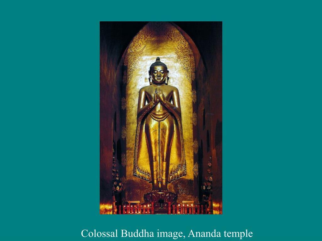 Colossal Buddha image, Ananda temple