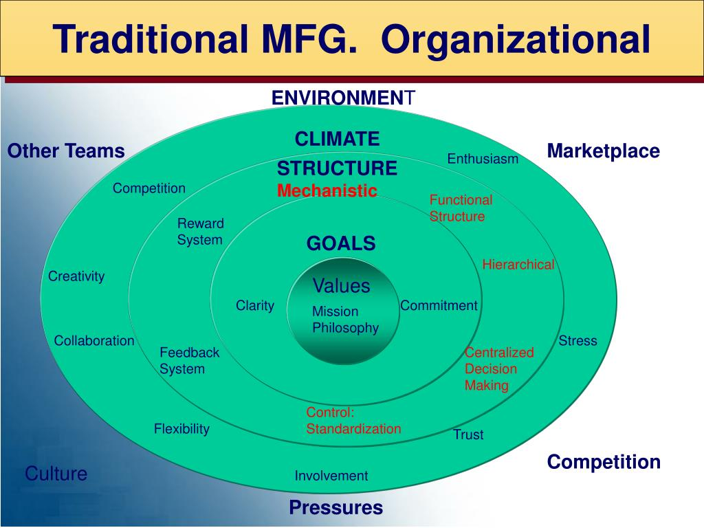 Traditional MFG.  Organizational