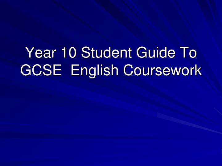 Year 10 English coursework help!!!?