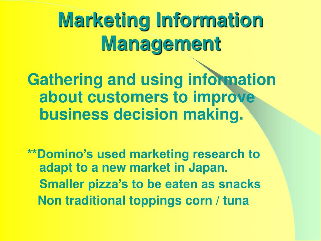 Marketing Information Management