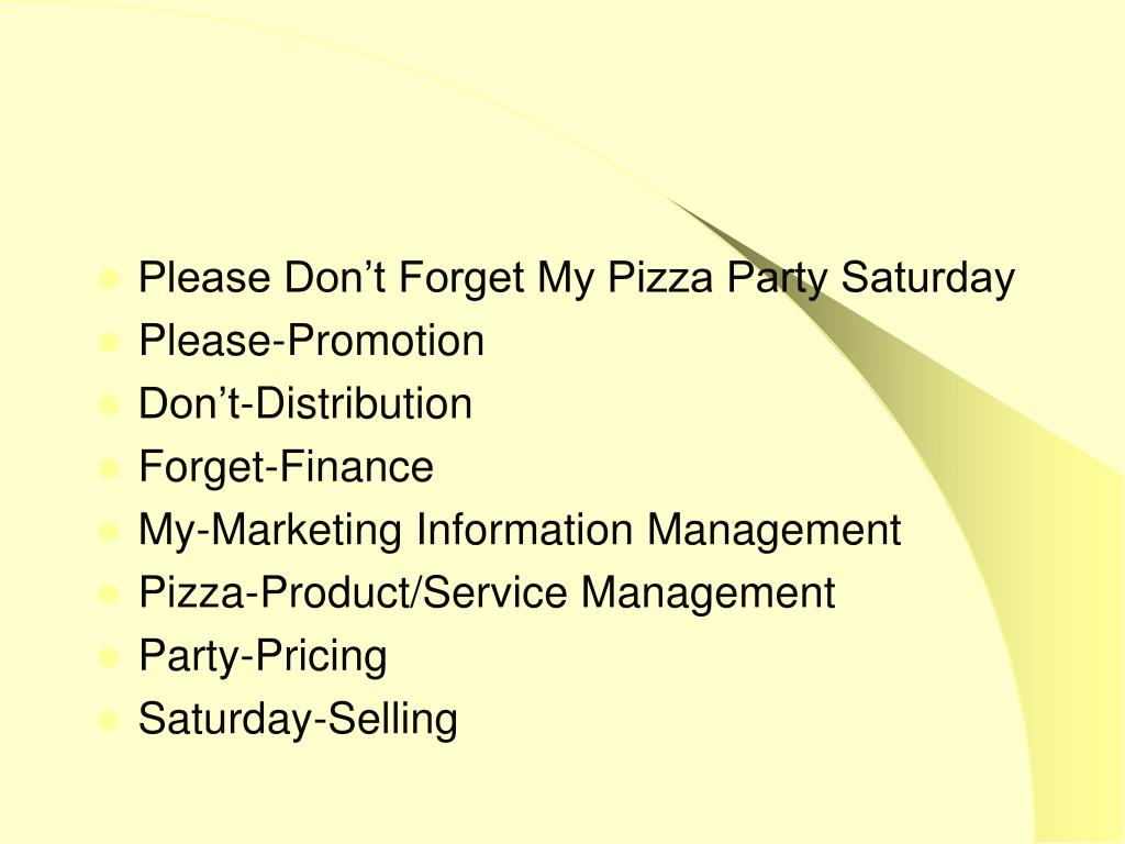 Please Don't Forget My Pizza Party Saturday