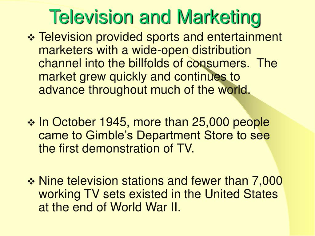 Television and Marketing
