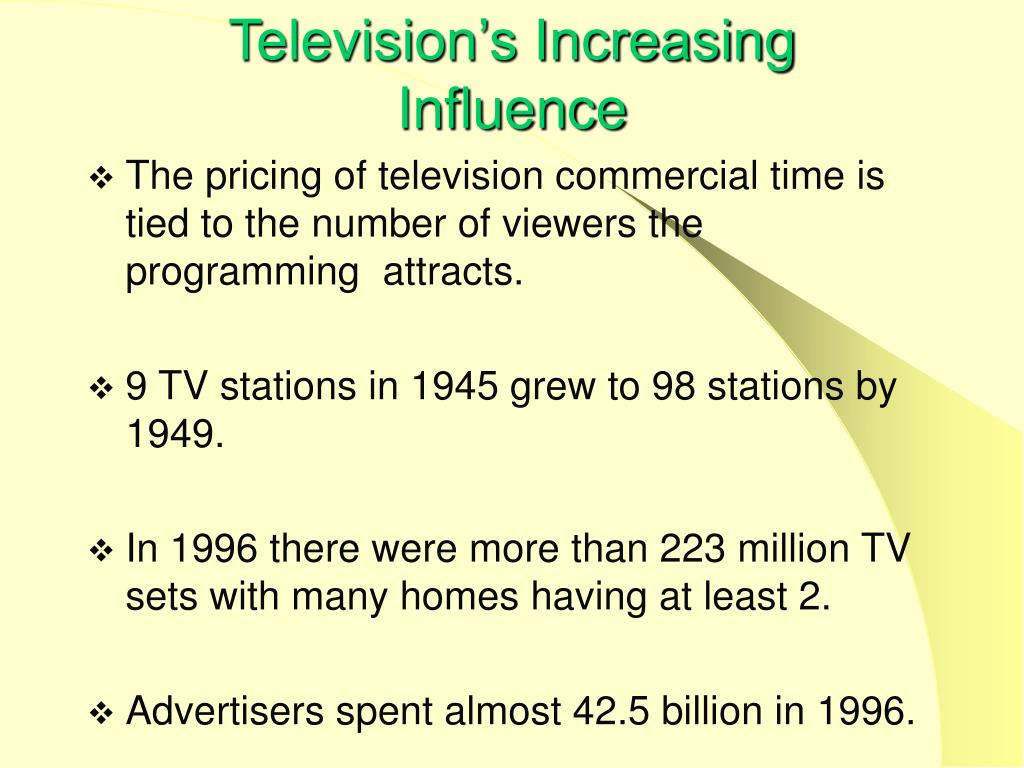 Television's Increasing
