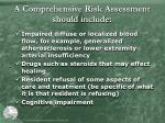 a comprehensive risk assessment should include1