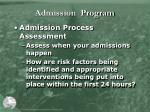 admission program