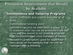prevention interventions that should be available3