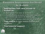 prevention interventions that should be available5
