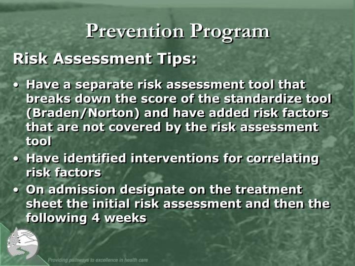 Prevention Program
