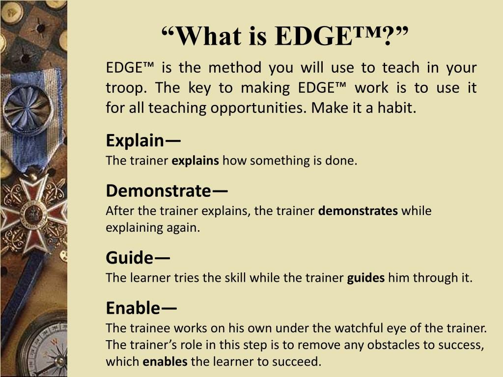 """""""What is EDGE™?"""""""