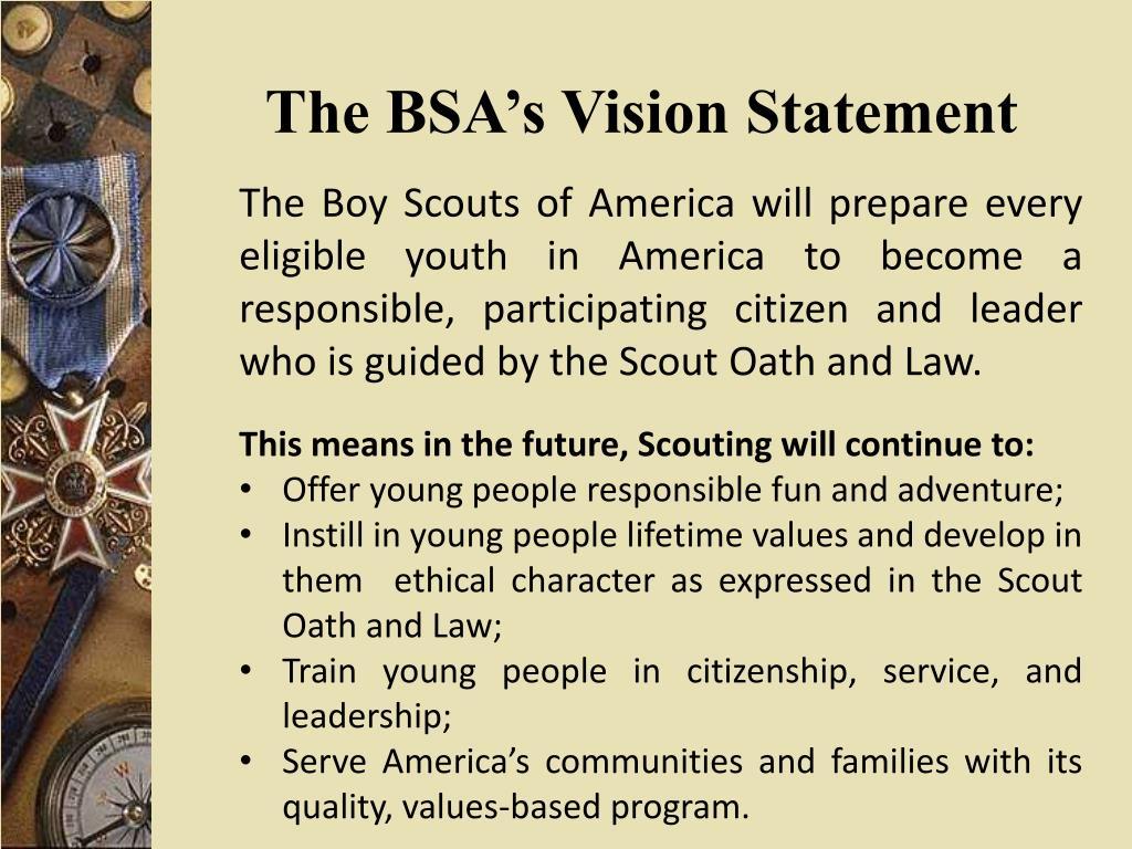 The BSA's Vision Statement