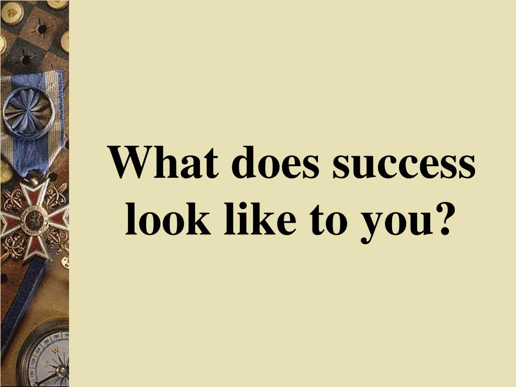 What does success