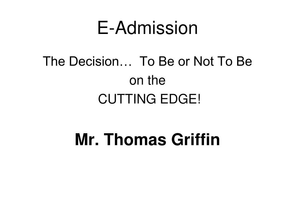 E-Admission