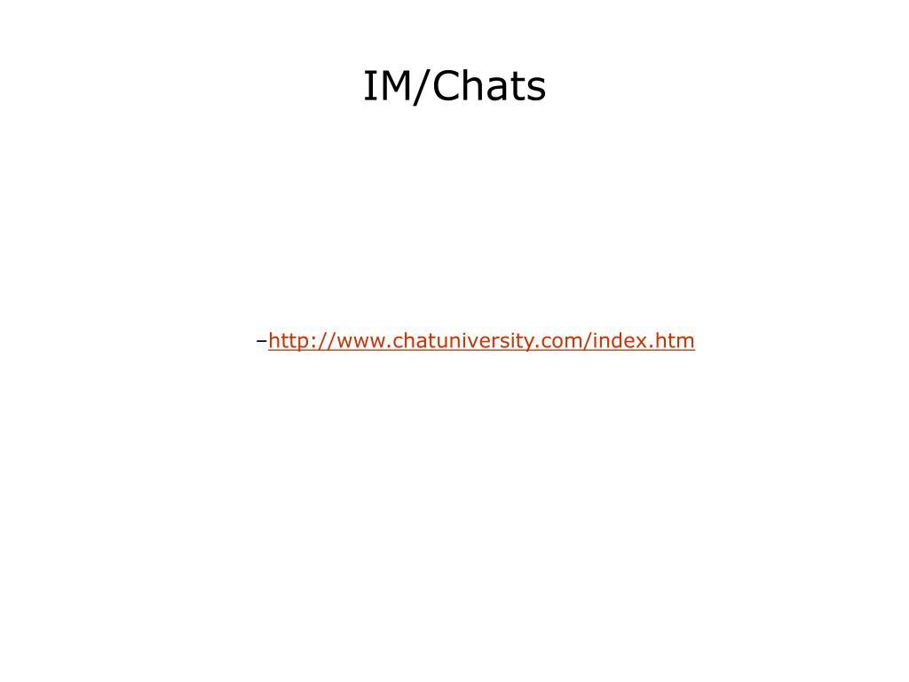 IM/Chats