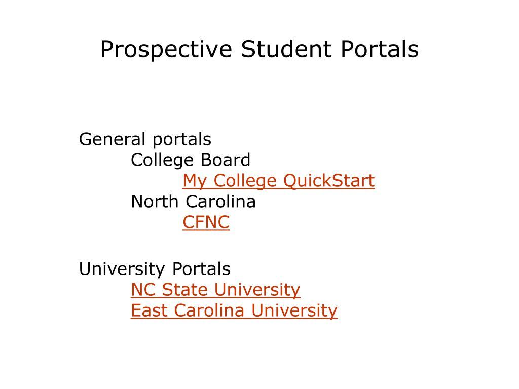 Prospective Student Portals