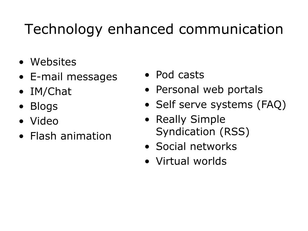 Technology enhanced communication