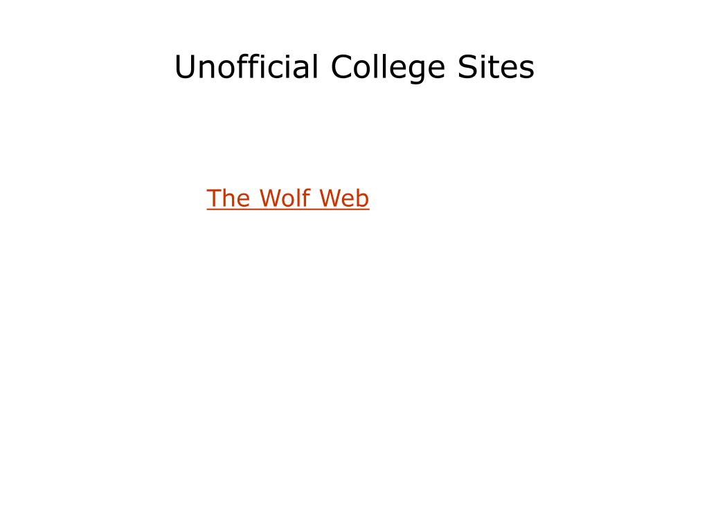 Unofficial College Sites