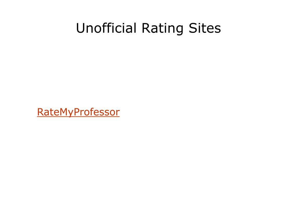Unofficial Rating Sites