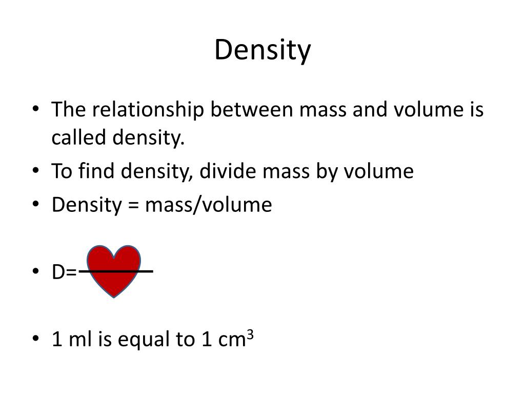 an experiment showing the effects of mass and volume on density Experiments amazing 9 layer density tower density = mass ÷ volume construct a table to show the order that the liquids and objects are in at the start.