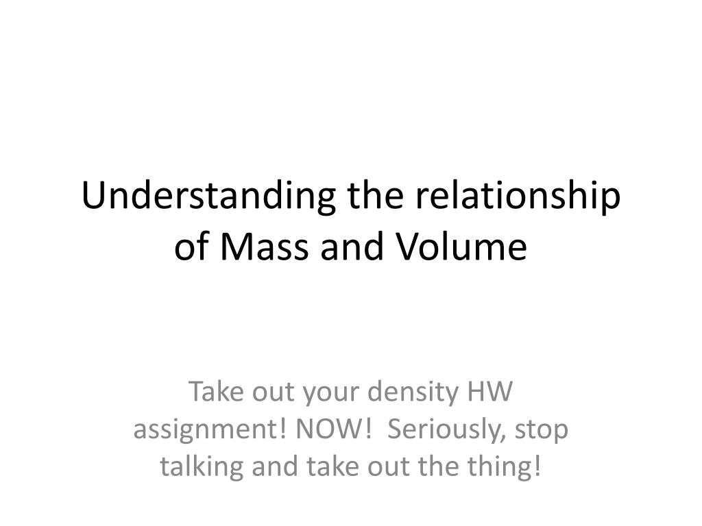 mass density and volume relationship to temperature