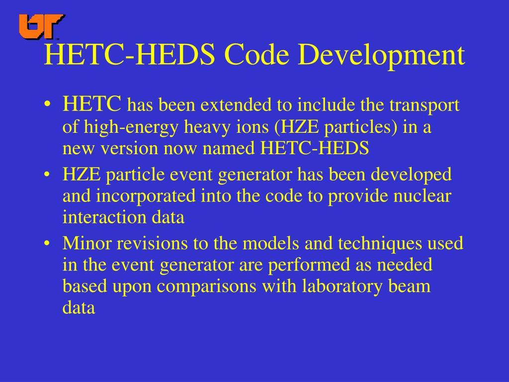 HETC-HEDS Code Development