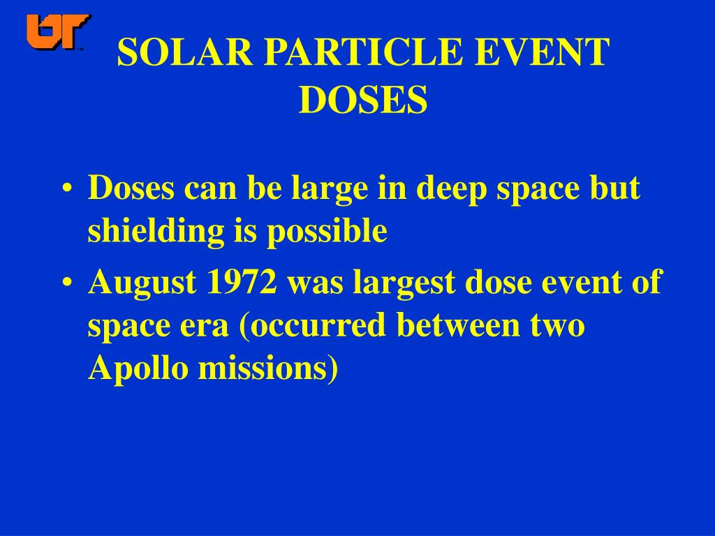 SOLAR PARTICLE EVENT DOSES