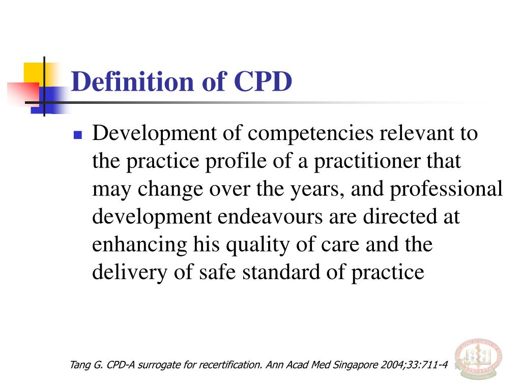 Definition of CPD