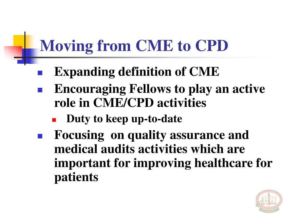 Moving from CME to CPD