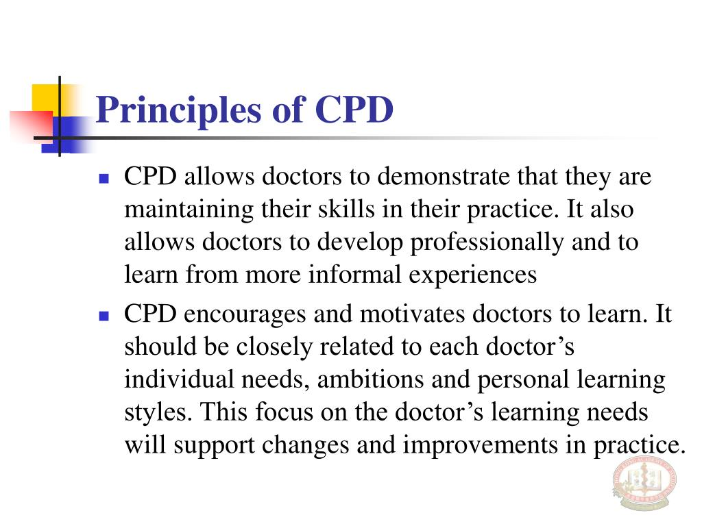 Principles of CPD