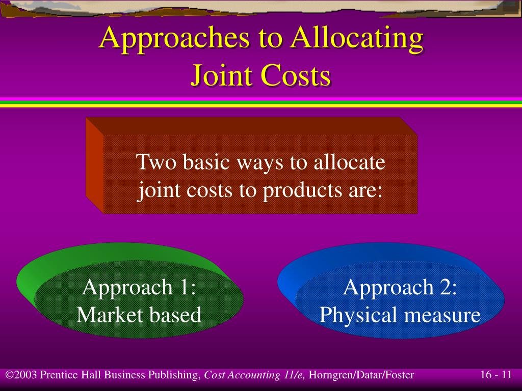 costs and joint cost allocation A joint cost is a cost that benefits more than one product, while a  allocating  joint costs does not help management, since the resulting.