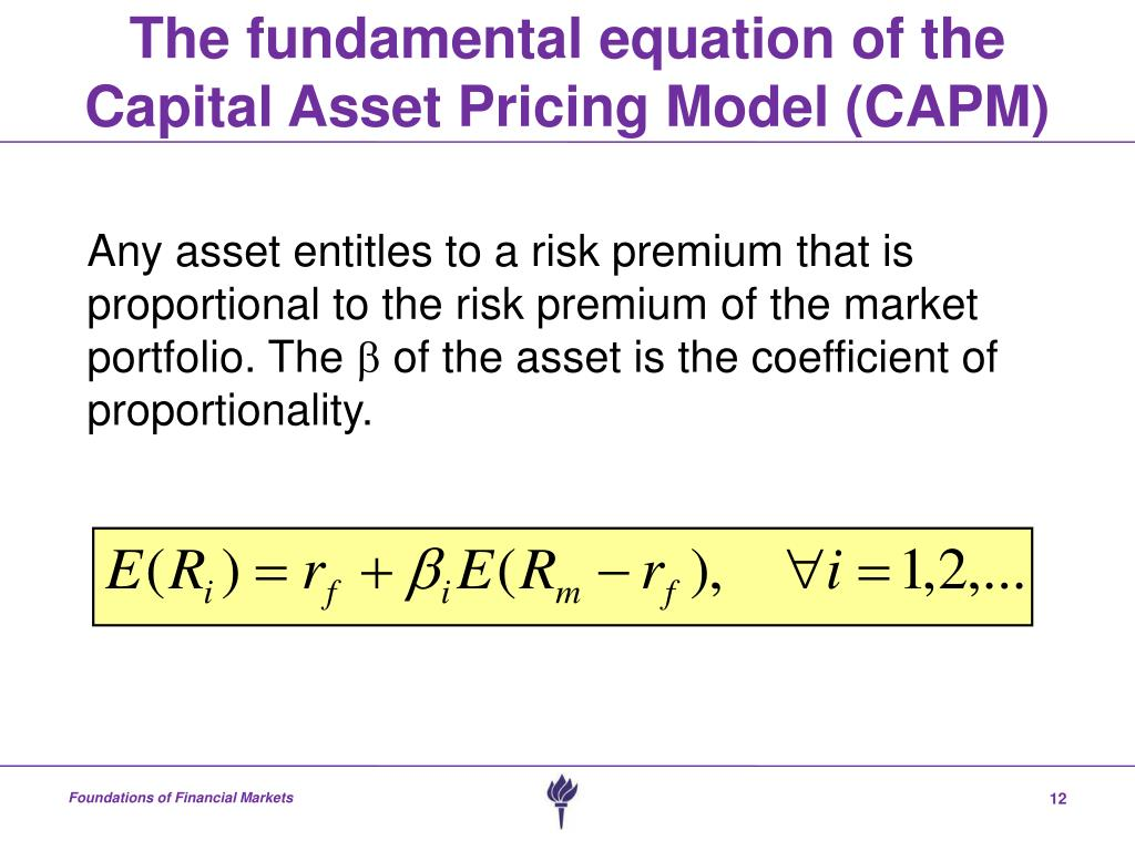 the capital asset pricing model and arbitrage pricing Arbitrage pricing theory  relationship with the capital asset pricing model edit  stephen (1976) the arbitrage theory of capital asset pricing.
