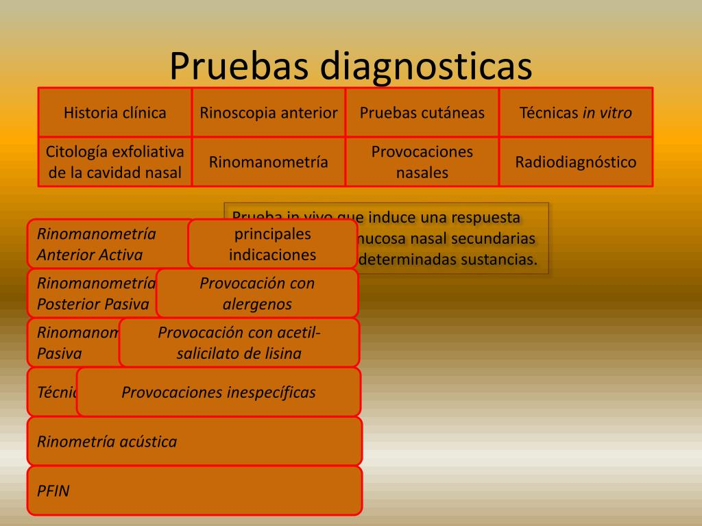 Pruebas diagnosticas