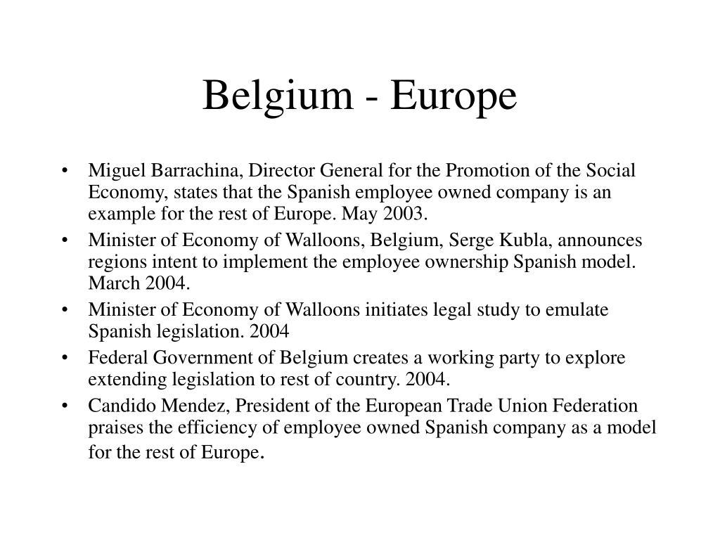Belgium - Europe