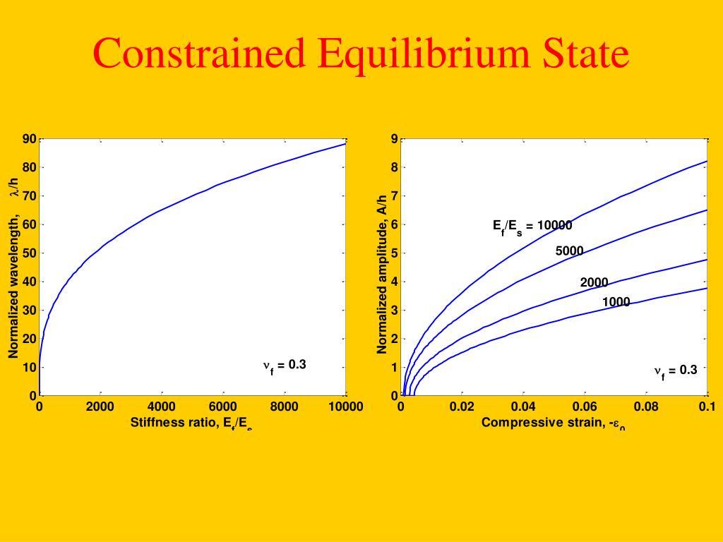 Constrained Equilibrium State