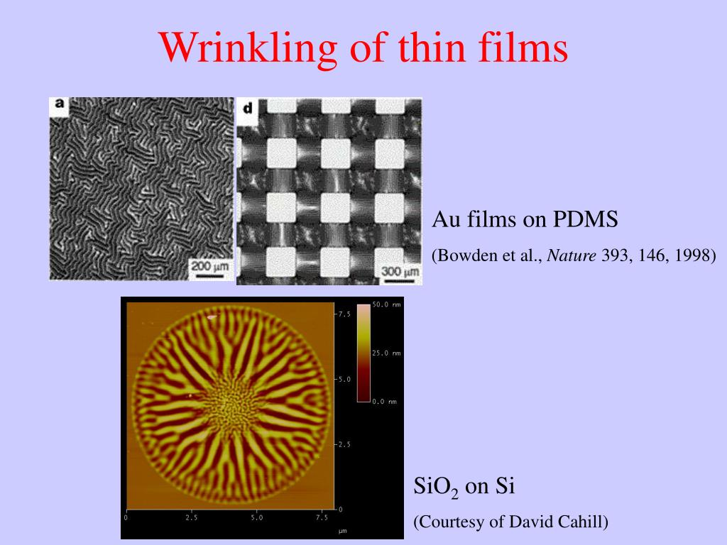 Au films on PDMS