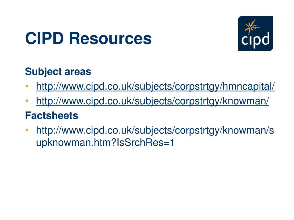 CIPD Resources